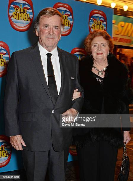 Sir Terry Wogan and Lady Helen Wogan arrive at the press night performance of I Can't Sing The X Factor Musical at the London Palladium on March 26...