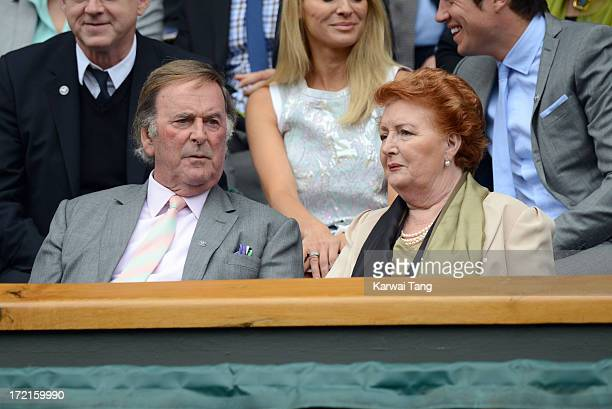 Sir Terry Wogan and Lady Helen Wogan attend on Day 8 of the Wimbledon Lawn Tennis Championships at the All England Lawn Tennis and Croquet Club at...