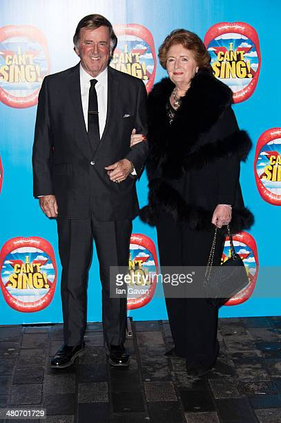 Sir Terry Wogan and Lady Helen Wogan attend the press night of I Can't Sing The X Factor Musical at London Palladium on March 26 2014 in London...