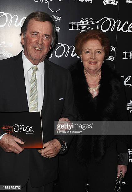 Sir Terry Wogan and Lady Helen Wogan attends the press night for new musical 'Once' at Phoenix Theatre on April 9 2013 in London England