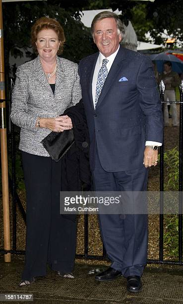 Sir Terry Wogan And Wife Helen Arrive At A Garden Party Held By David Frost Each Year Near His London Home