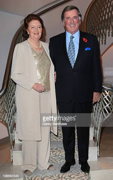 Sir Terry Wogan and wife Lady Helen Wogan attend a tribute lunch to Sir Terry Wogen/ his tribute lunch at The Dorchester on November 5 2010 in London...