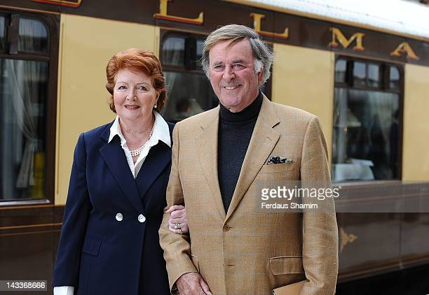 Sir Terry Wogan and wife Lady Helen Wogan attend the launch of OrientExpress A Personal Journey by James Sherwood and Ivan Fallon aboard the British...