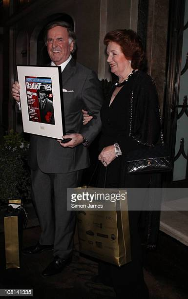 Sir Terry Wogan is seen leaving the Radio Times covers party at Claridge's hotel on January 18 2011 in London England