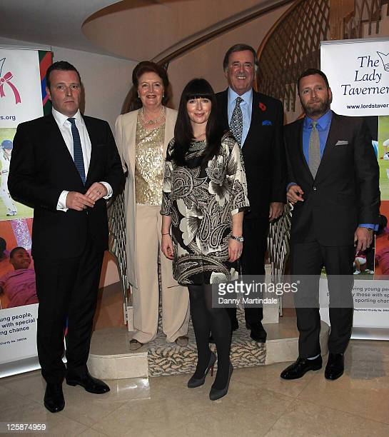 Sir Terry Wogan wife Lady Helen Wogan sons Alan Mark and daughter Katerine attend a tribute lunch to Sir Terry Wogen/ his tribute lunch at The...