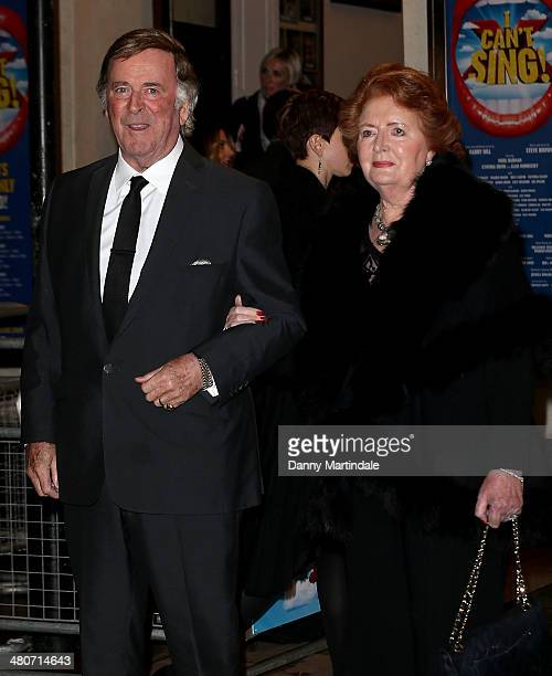Sir Terry Woganand Lady Helen Wogan attend the press night of I Can't Sing The X Factor Musical at London Palladium on March 26 2014 in London England