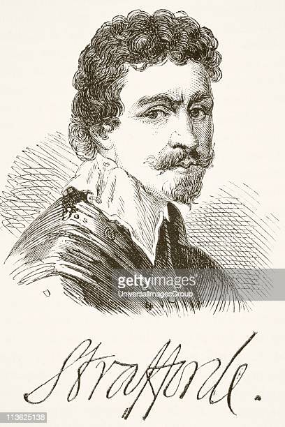 Sir Thomas Wentworth 1st Earl of Strafford 1593 1641 Baron of Raby aka Sir Thomas Wentworth Baron of Newmarch and Oversley Portrait and signature...