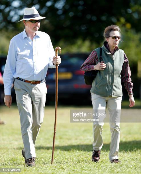 Sir Tim Laurence and Princess Anne, Princess Royal attend day 2 of the Whatley Manor Gatcombe International Horse Trials at Gatcombe Park on...