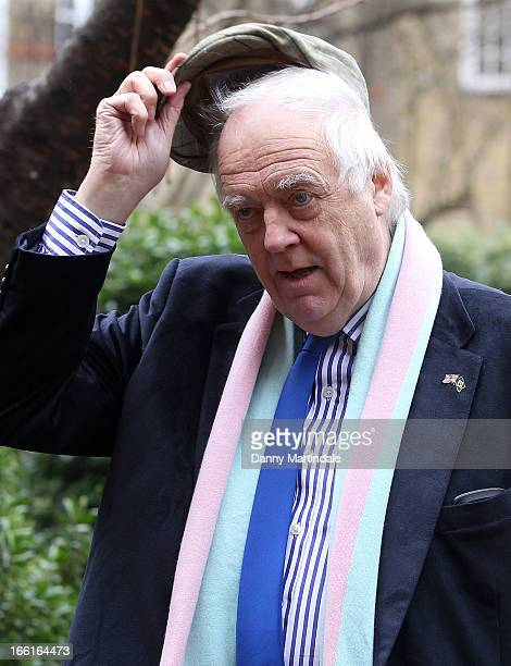 Sir Tim Rice attends a memorial for Dinah Sheridan an actress who starred in 'The Railway Children' at St Paul's Church on April 9 2013 in London...