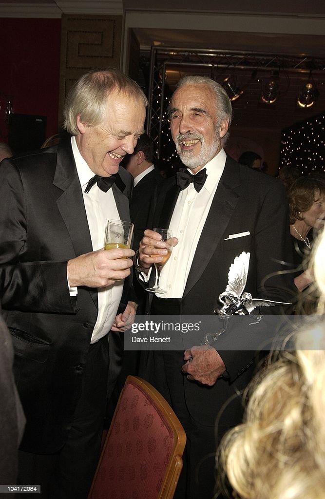 Sir Tim Rice & Christopher Lee, Evening Standard Film Awards, At The Savoy Hotel, London