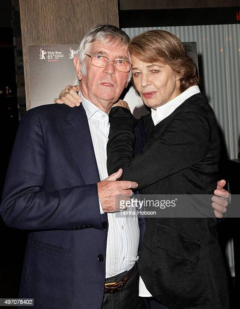 Sir Tom Courtenay and Charlotte Rampling attend the screening and reception for sundance selects' '45 Years' at iPic Westwood on November 13 2015 in...