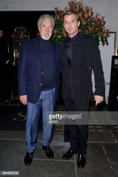 Sir Tom Jones and Gavin Rossdale sighting at Scotts restaurant Mayfair on March 17 2017 in London England
