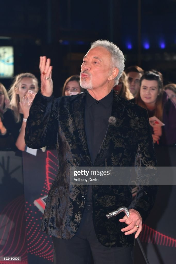 Sir Tom Jones arrives during The Voice UK 2018 launch photocall at Media City on October 17, 2017 in Manchester, England.