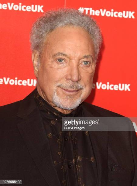 Sir Tom Jones at The Voice UK TV show launch in W Hotel Leicester Square