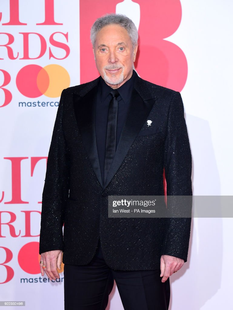 Sir Tom Jones attending the Brit Awards at the O2 Arena, London
