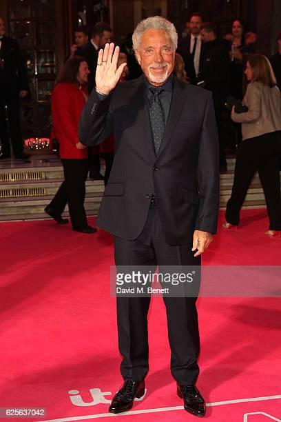 Sir Tom Jones attends the ITV Gala hosted by Jason Manford at London Palladium on November 24 2016 in London England