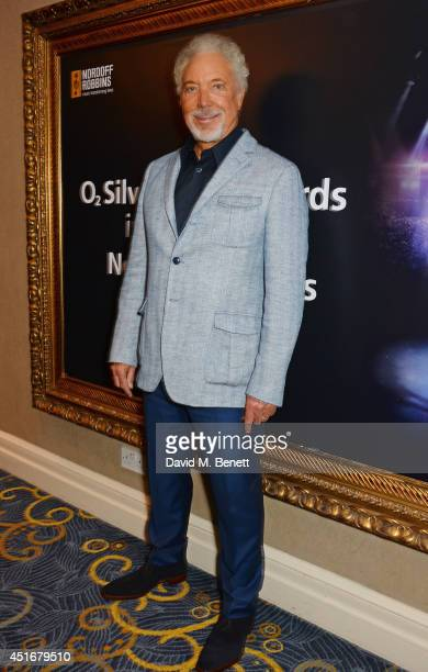 Sir Tom Jones attends the Nordoff Robbins 02 Silver Clef awards at the London Hilton on July 4 2014 in London England