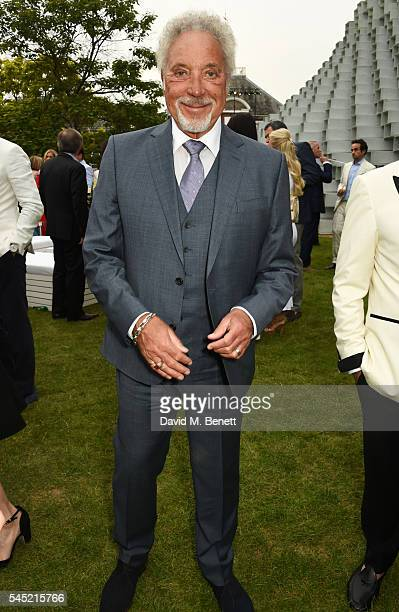 Sir Tom Jones attends The Serpentine Summer Party cohosted by Tommy Hilfiger on July 6 2016 in London England