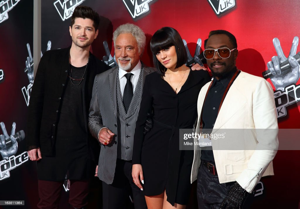 Sir Tom Jones, Jessie J, Will.i.am and Danny O'Donoghue attend a photocall to launch the second series of The Voice at Soho Hotel on March 11, 2013 in London, England.