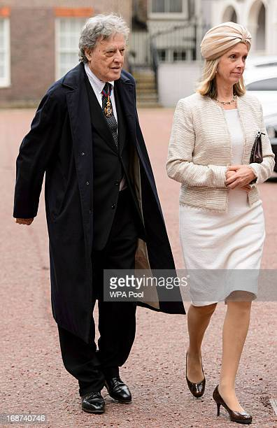 Sir Tom Stoppard and Sabrina Guinness arrive at the Chapel Royal at St James's Palace central London to attend a service for members of the Order of...