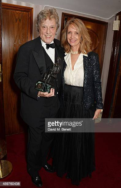 Sir Tom Stoppard and Sabrina Guinness attend an after party following the 60th London Evening Standard Theatre Awards at the London Palladium on...