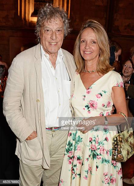 Sir Tom Stoppard and Sabrina Guinness attend an after party celebrating the press night performance of Shakespeare In Love at Southwark Cathedral on...