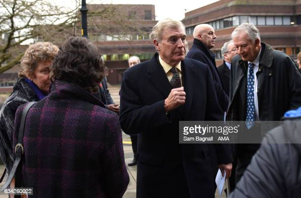 Sir Trevor Brooking during the Funeral of Baroness Heyhoe Flint on February 8 2017 in Wolverhampton England