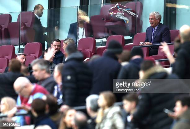 Sir Trevor Brooking looks on from the stands during the Premier League match between West Ham United and Burnley at London Stadium on March 10 2018...