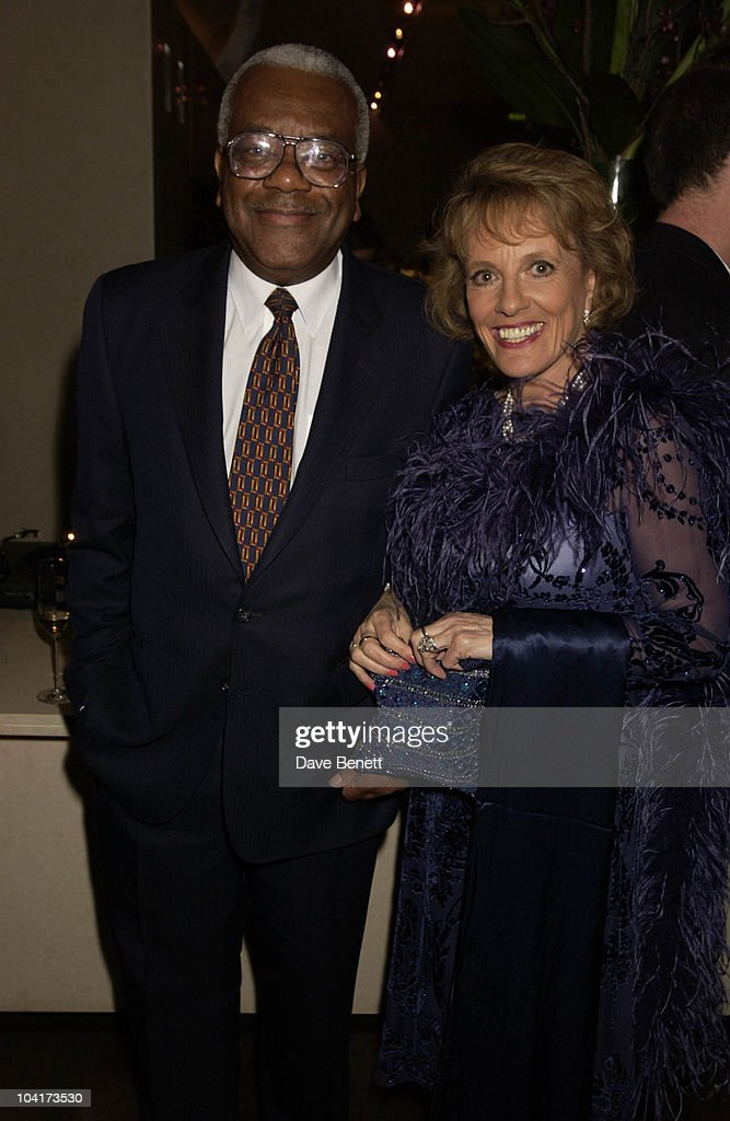 Sir Trevor Mcdonald And Ester Rantzen, At The Theatre Royal Haymarket,and The Party At The Trafalgar Hotel, London.