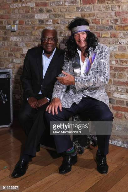 Sir Trevor McDonald and Jon Snow pose ahead of the performance at the Newsroom�s Got Talent event held in aid of Leonard Cheshire Disability and...