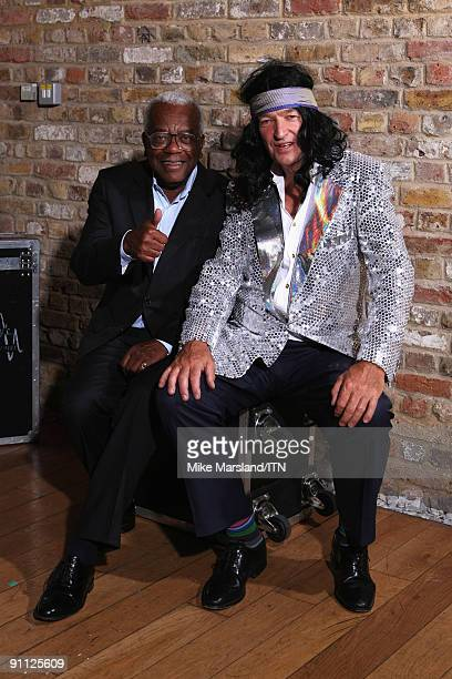Sir Trevor McDonald and Jon Snow pose ahead of the performance at the 'Newsroom�s Got Talent' event held in aid of Leonard Cheshire Disability and...