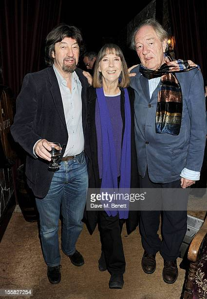Sir Trevor Nunn Dame Eileen Atkins and Sir Michael Gambon attend a postperformance drinks for 'All That Fall' at Salvador and Amanda on November 8...