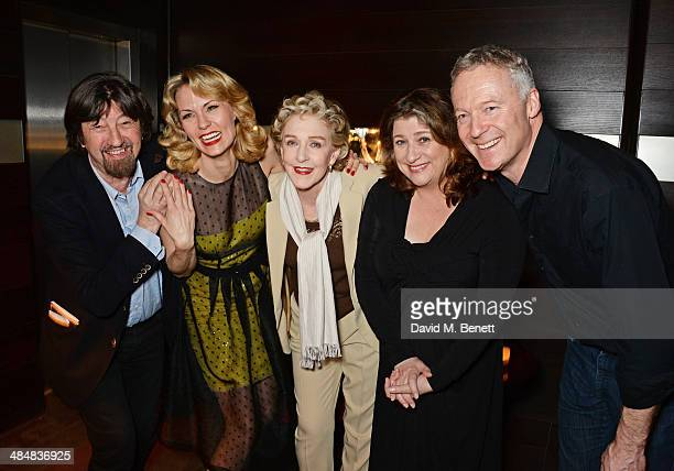 Sir Trevor Nunn Leigh Zimmerman Patricia Hodge Caroline Quentin and Rory Bremner attend an after party celebrating the press night performance of...
