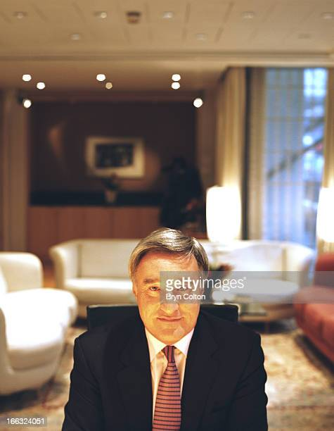 Sir Vernon Ellis international chairman of Accenture Plc poses for a photograph in his office following an interview at the company's headquarters in...