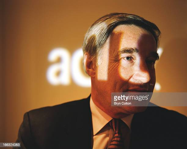Sir Vernon Ellis international chairman of Accenture Plc sits in the boardroom and poses for a photograph at the company's headquarters in the Strand...