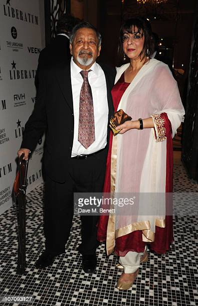 Sir VS Naipaul and wife Nadira Naipaul attend the Liberatum dinner hosted by Ella Krasner and Pablo Ganguli in honour of Sir VS Naipaul at The Landau...
