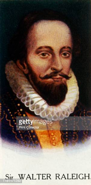 Sir Walter Raleigh' 1927 Sir Walter Raleigh Elizabethan writer adventurer sailor pirate mariner navigator and spy From A Series of 25 Famous Men...