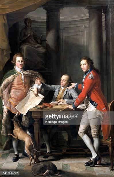 Sir Watkin Williams Wynn Thomas Apperley and Captain Edward Hamilton' 176872 Artist Pompeo Batoni