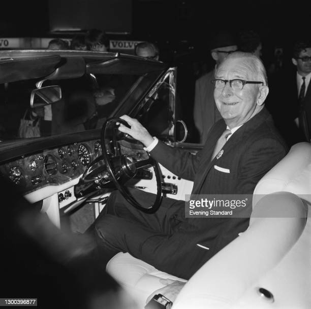 Sir William Lyons , who is retiring as the chairman of British Leyland, UK, 1st November 1972.