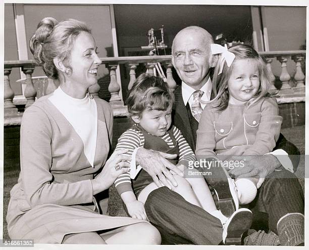 Sir William McMahon , Australian statesman and Prime Minister from 1971-72, and Lady Sonia McMahon with their children, son Julian McMahon and eldest...