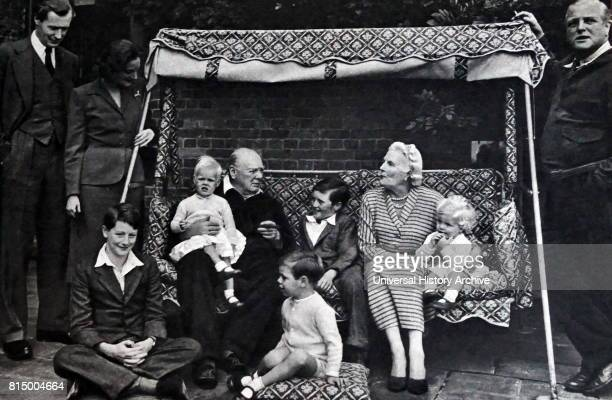 Sir Winston and lady Clementine Churchill with grandchildren 1951 Sir Winston Churchill was a British statesman who was the Prime Minister of the...