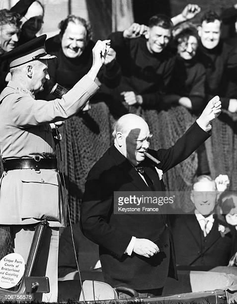 Sir Winston Churchill And Field Marshal Viscount Montgomery September 7Th 1955