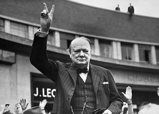 """GBR: 19th July 1941 - Winston Churchill Starts """"V For Victory"""" Campaign"""