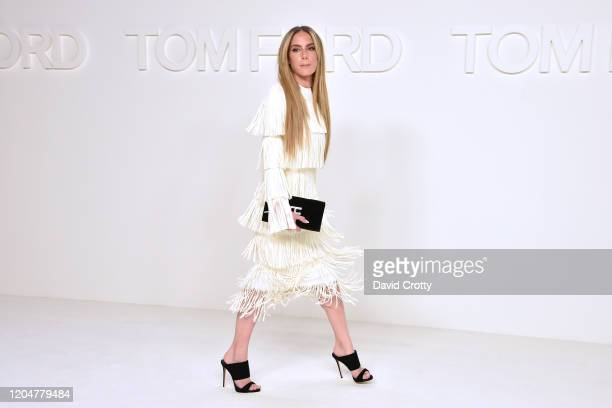 Sira Pevida attends the Tom Ford AW/20 Fashion Show at Milk Studios on February 07, 2020 in Los Angeles, California.