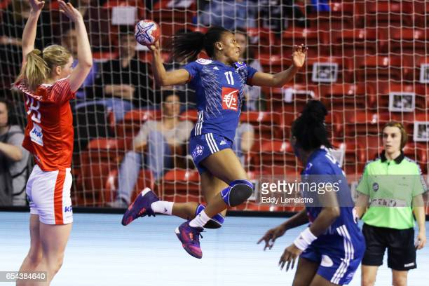 Siraba Dembele of France during the Golden League match between France and Denmark on March 16 2017 in Le Mans France