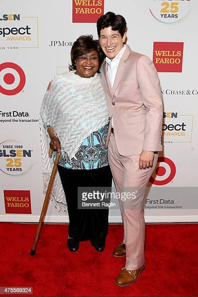 Sirdeaner Walker and Executive Director of GLSEN Eliza Byard attends 2015 GLSEN Respect Awards on June 1, 2015 in New York City.