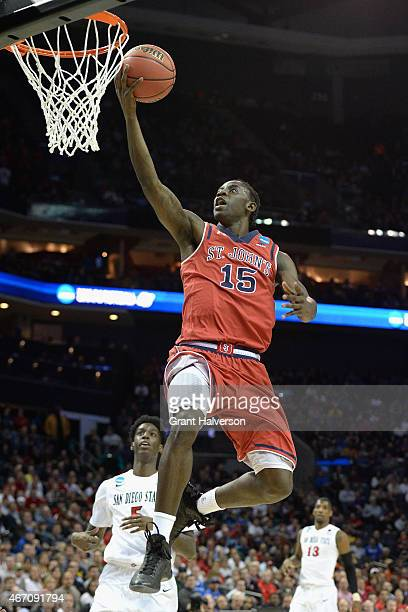 Sir'Dominic Pointer of the St John's Red Storm drives to the basket against the San Diego State Aztecs during the second round of the 2015 NCAA Men's...
