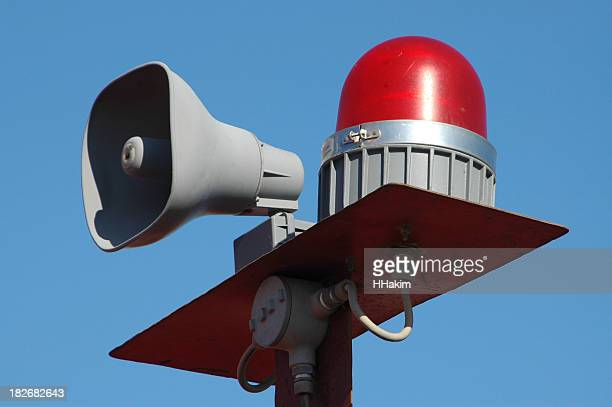 siren alarm - emergency siren stock pictures, royalty-free photos & images