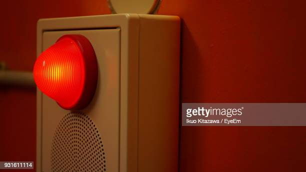 siren light on wall - emergency siren stock pictures, royalty-free photos & images