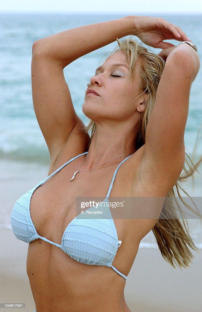 Siren Models Beach Shoot in the Hamptons : News Photo